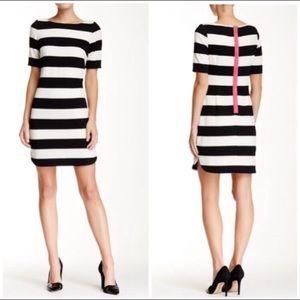 Eliza J short sleeve striped dress